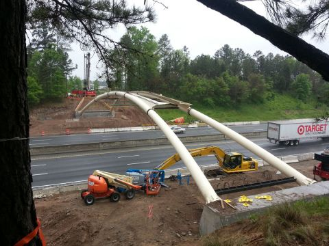 Span of new I-40 bridge--April 2013