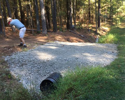 Finishing Culvert Install at Pittard Sears